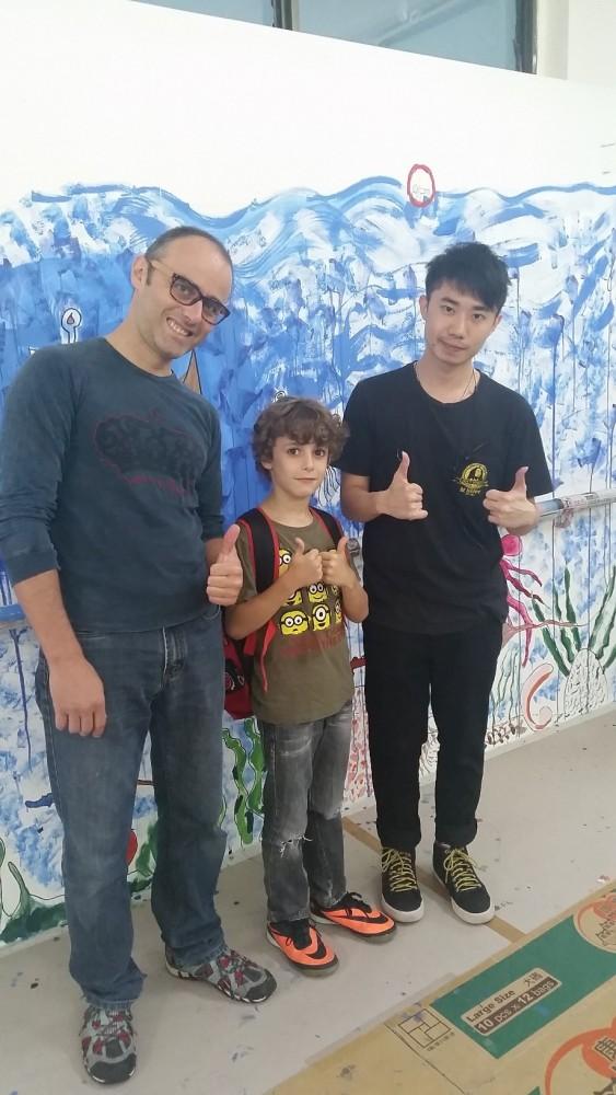 《拥抱艺术2015》墙壁画的创作 第四天 (待续)
