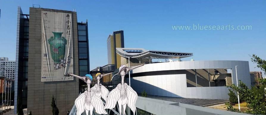 文化中心和艺术博物馆相隔很近,过了天桥就是观音莲花苑!