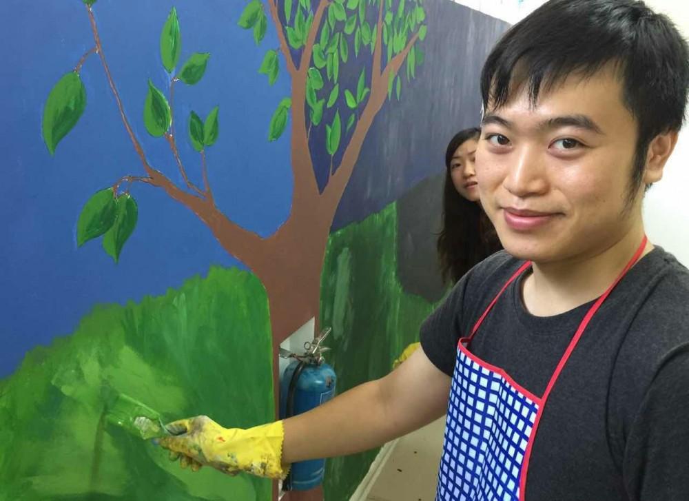 《拥抱艺术2015》墙壁画的创作 第二天 (待续)