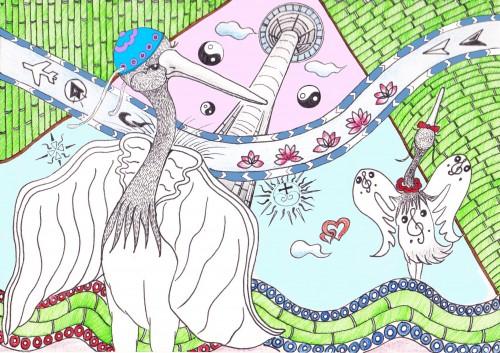 """""""歡迎入住自助式風力發電樹屋酒店,特色是沒有電梯,日间阳光充足,夜晚可以看星星!""""/授权设计影像来源:蓝海艺术有限公司、LiLi"""