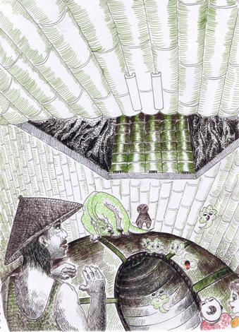 险恶之旅1 纸本故事插画 39.5X47.5cm