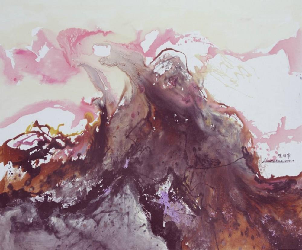 《泰山神韵——金秋时节》,尺寸120x180(cm)