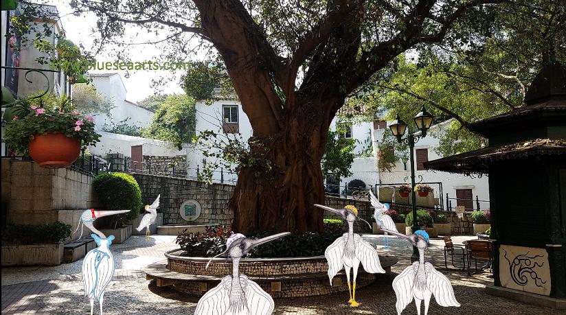阿婆井前地的这棵大树可以遮荫乘凉!