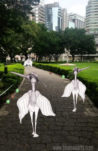"""""""早晨!让我们去逛公园吧!"""" 白鹭留言 ;设计影像来源:蓝海艺术有限公司"""